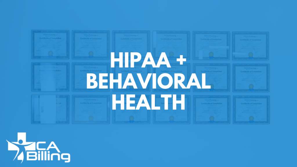 Behavioral Health HIPAA Compliance